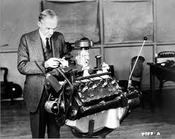henr ford with his v8 motor